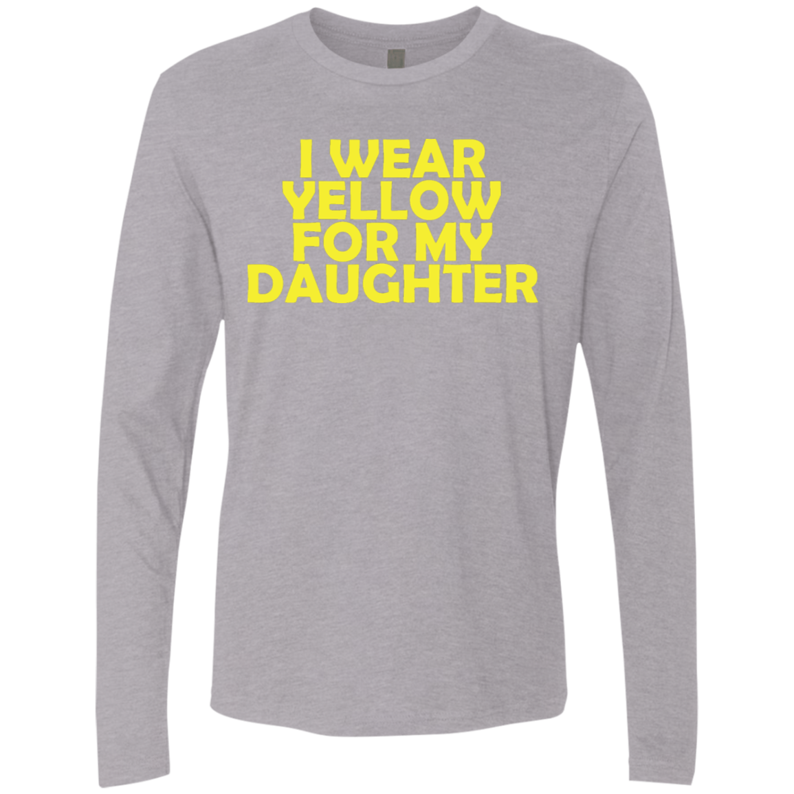 I Wear Yellow For My Daughter Men's Long Sleeve Tee