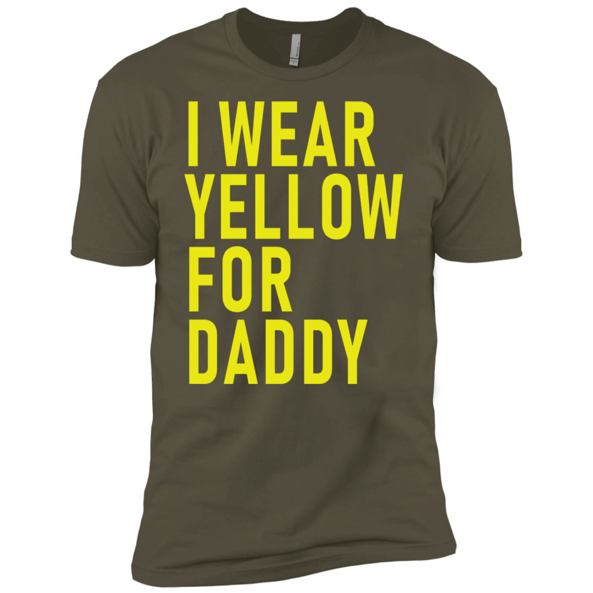 I Wear Yellow For Daddy Men's Classic Tee