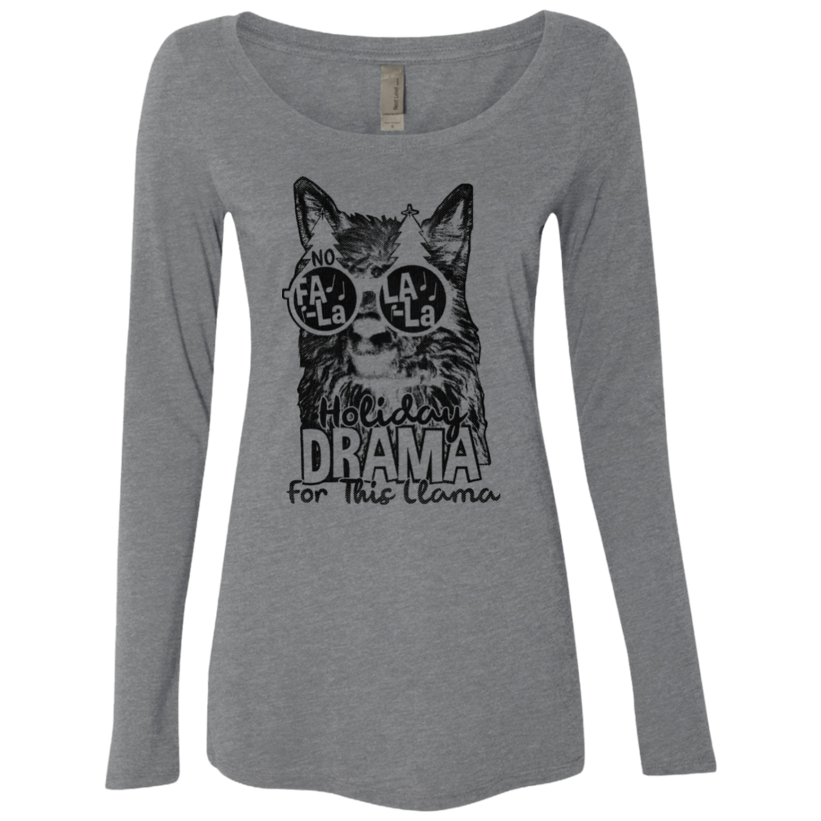 Holiday Drama For This Llama Women's Long Sleeve Tee