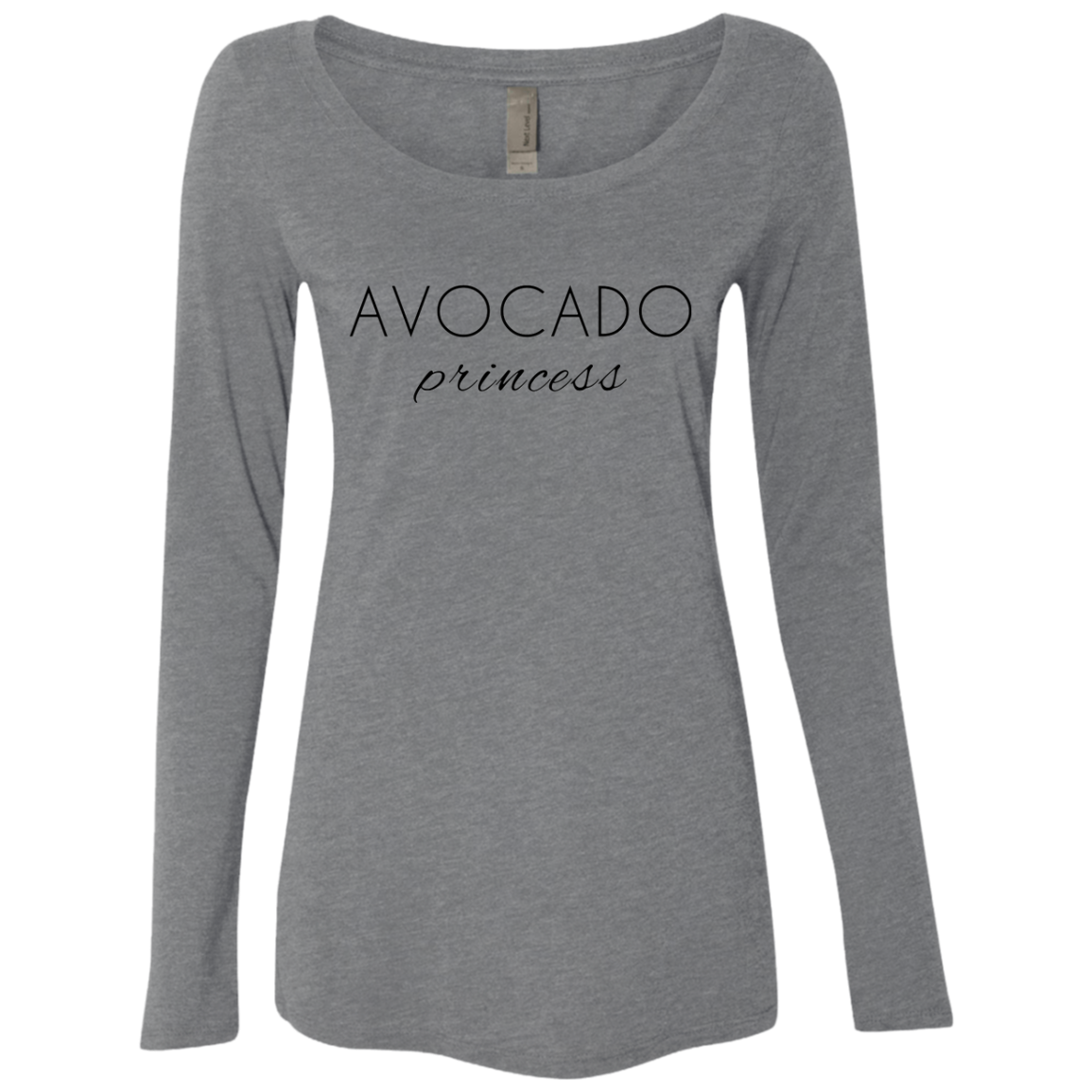 Avocado Princess Women's Long Sleeve Tee - Trendy Tees