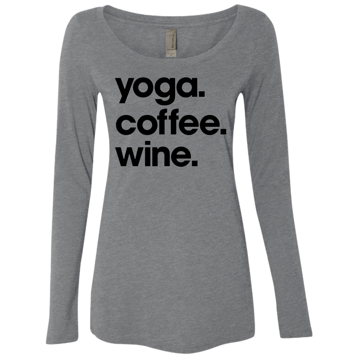 Yoga Coffee Wine Women's Long Sleeve Tee