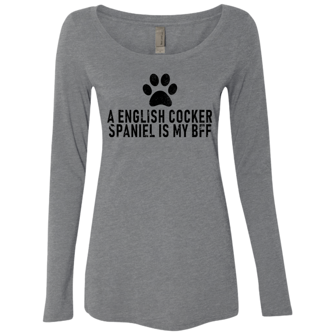 A English Cocker Spaniel Is My Bff Women's Long Sleeve Tee