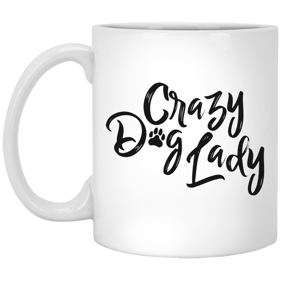Crazy Dog Lady 11 oz. White Coffee Mug