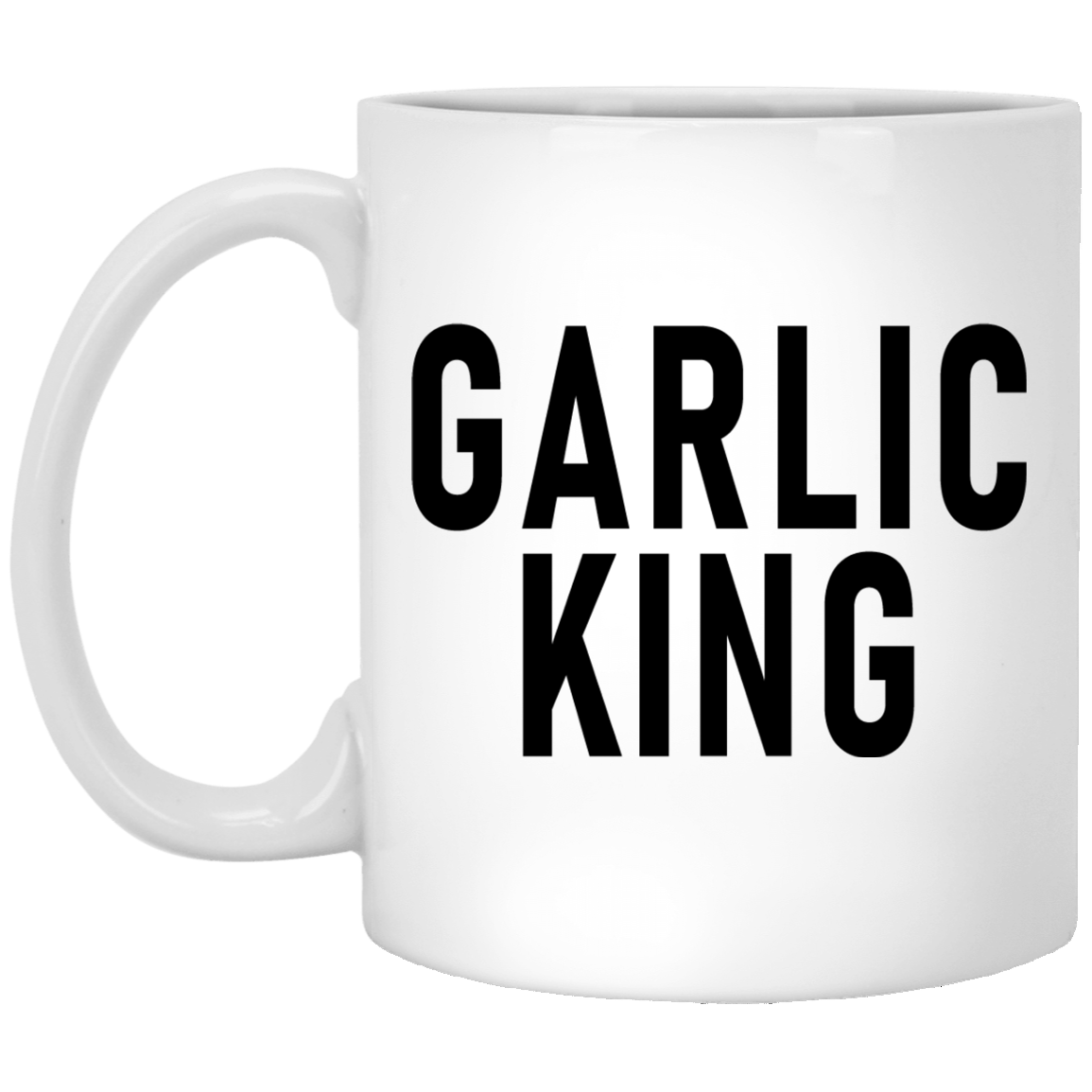 Garlic King 11 oz. White Coffee Mug