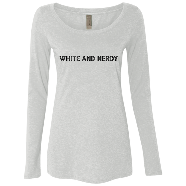White And Nerdy Women's Long Sleeve Tee