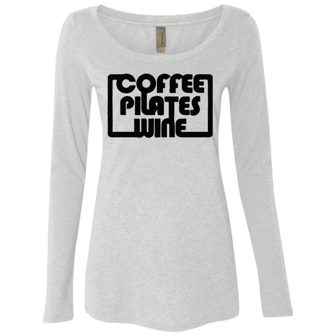Coffee Pilates Wine Women's Long Sleeve Tee