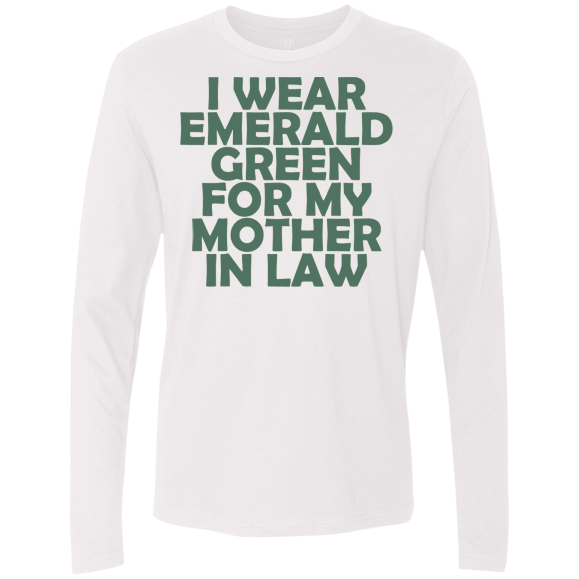 I Wear Emerald For My Mother In Law Men's Long Sleeve Tee