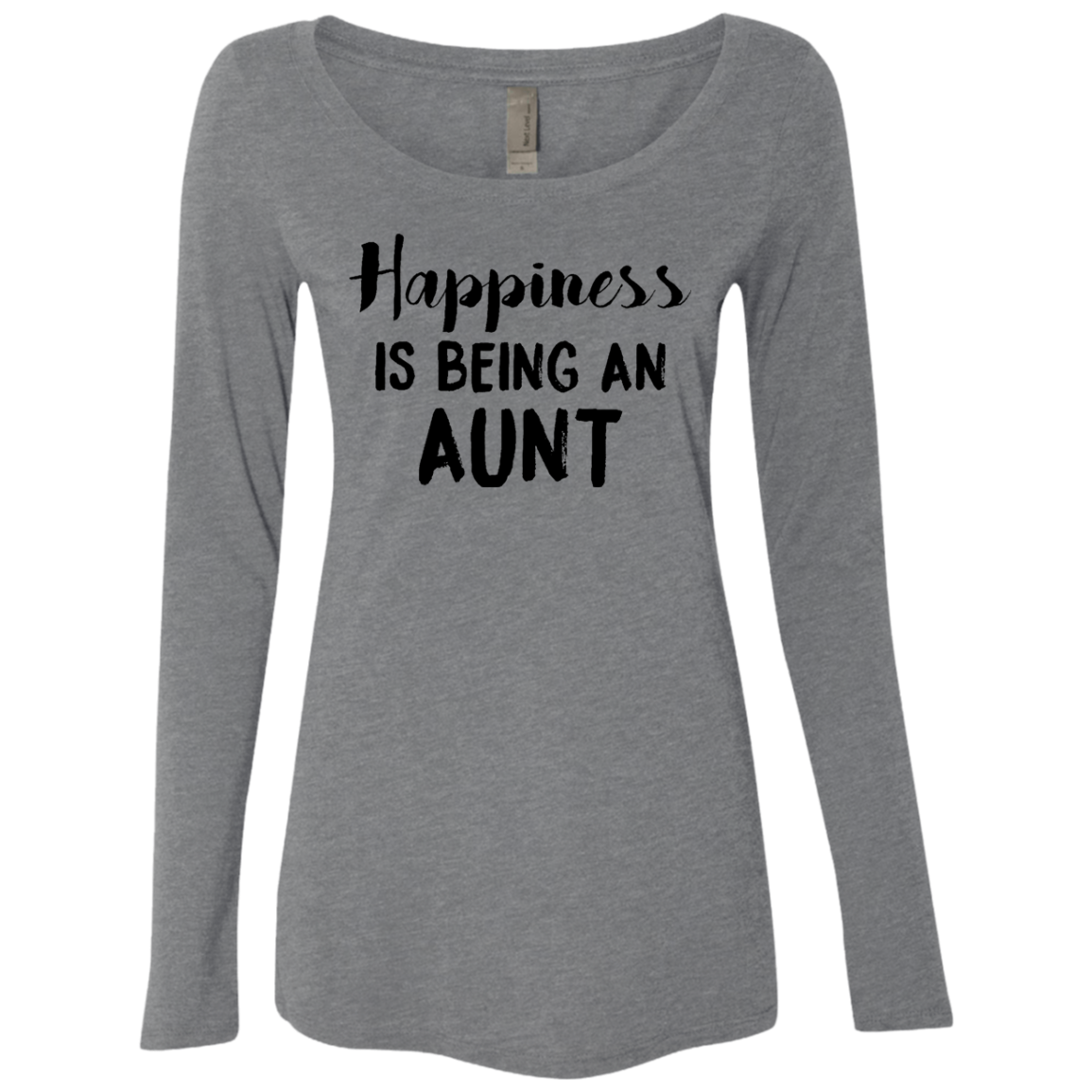 Happinesss Is Being An Aunt Women's Long Sleeve Tee
