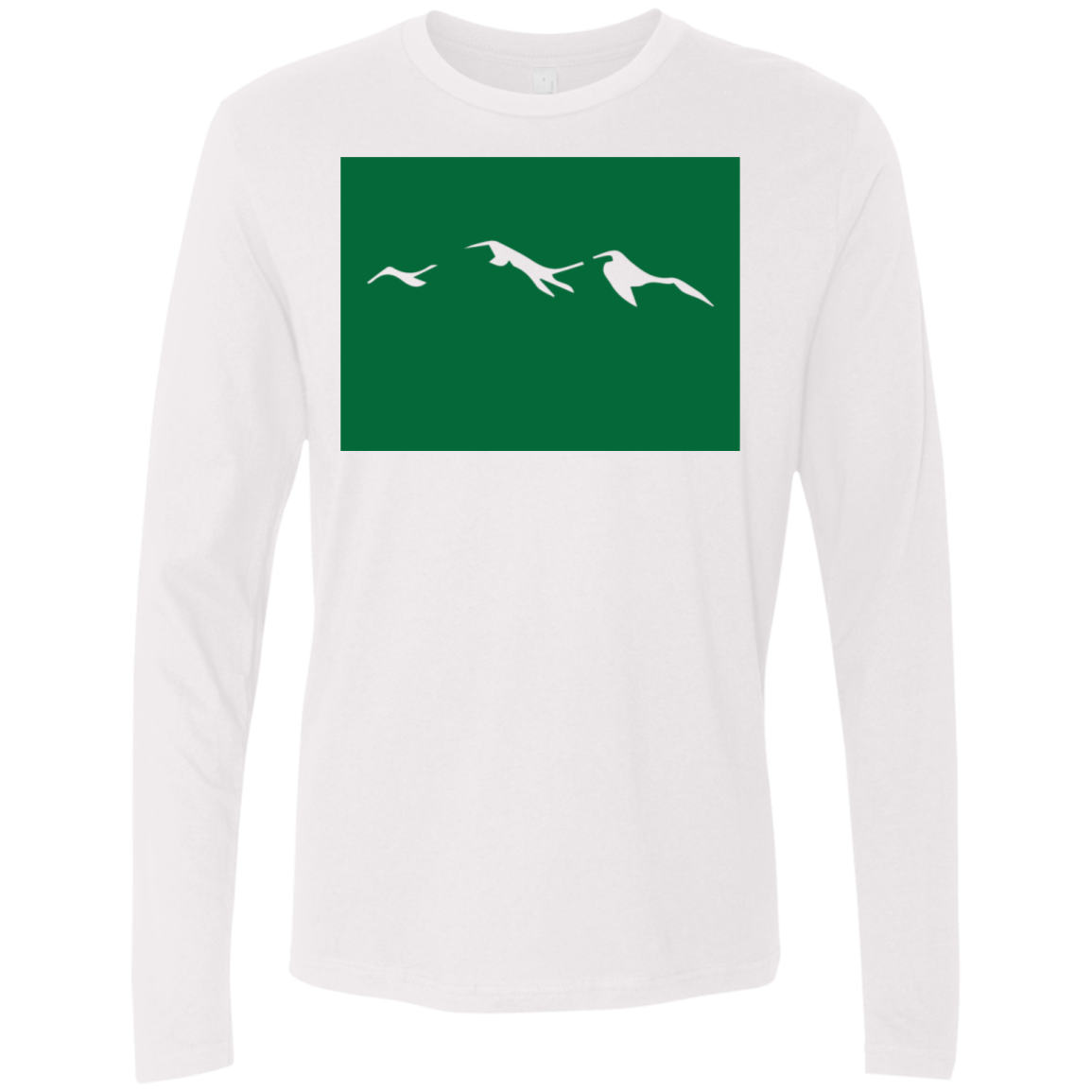 Colorodo Mountains Green Men's Long Sleeve Tee