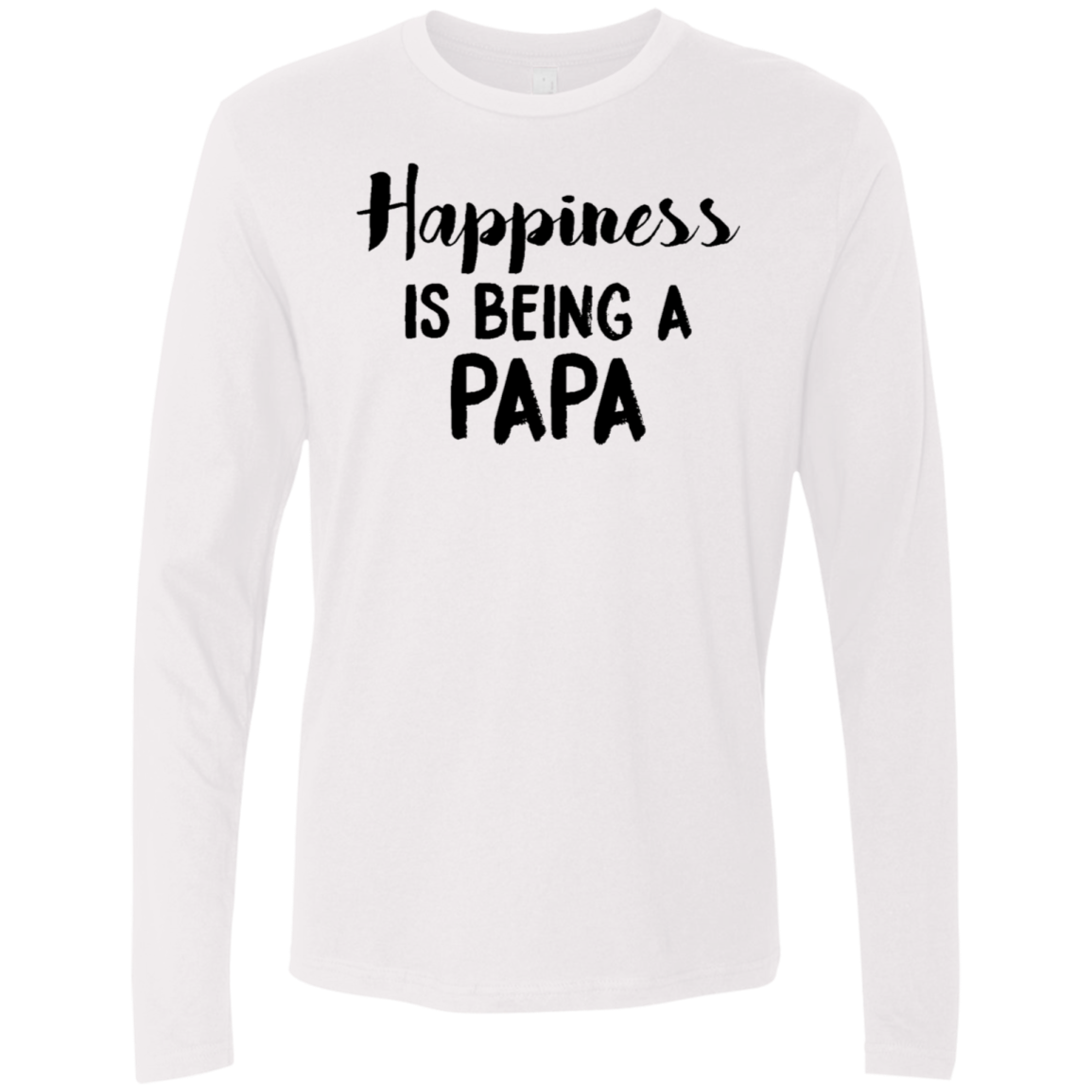 Happiness Is Being A Papa Men's Long Sleeve Tee