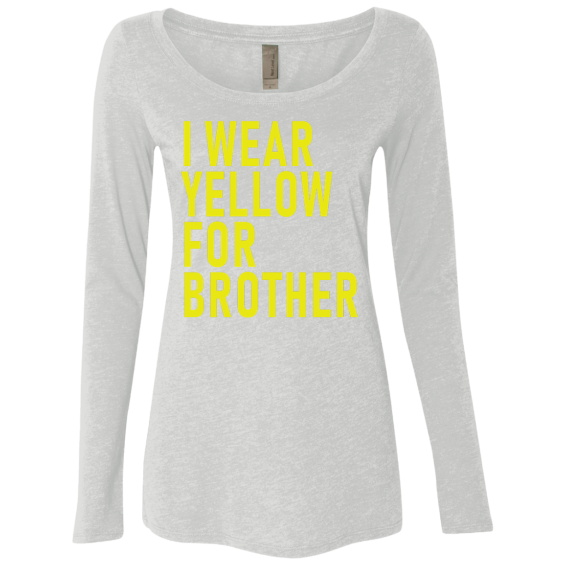 I Wear Yellow For Brother Women's Long Sleeve Tee
