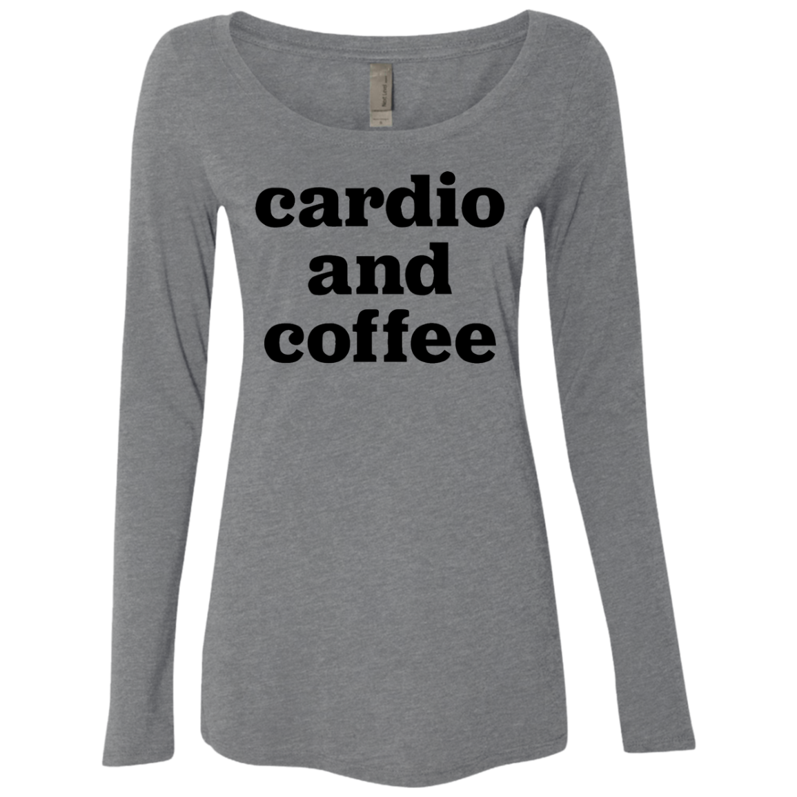Cardio and Coffee Women's Long Sleeve Tee - Trendy Tees