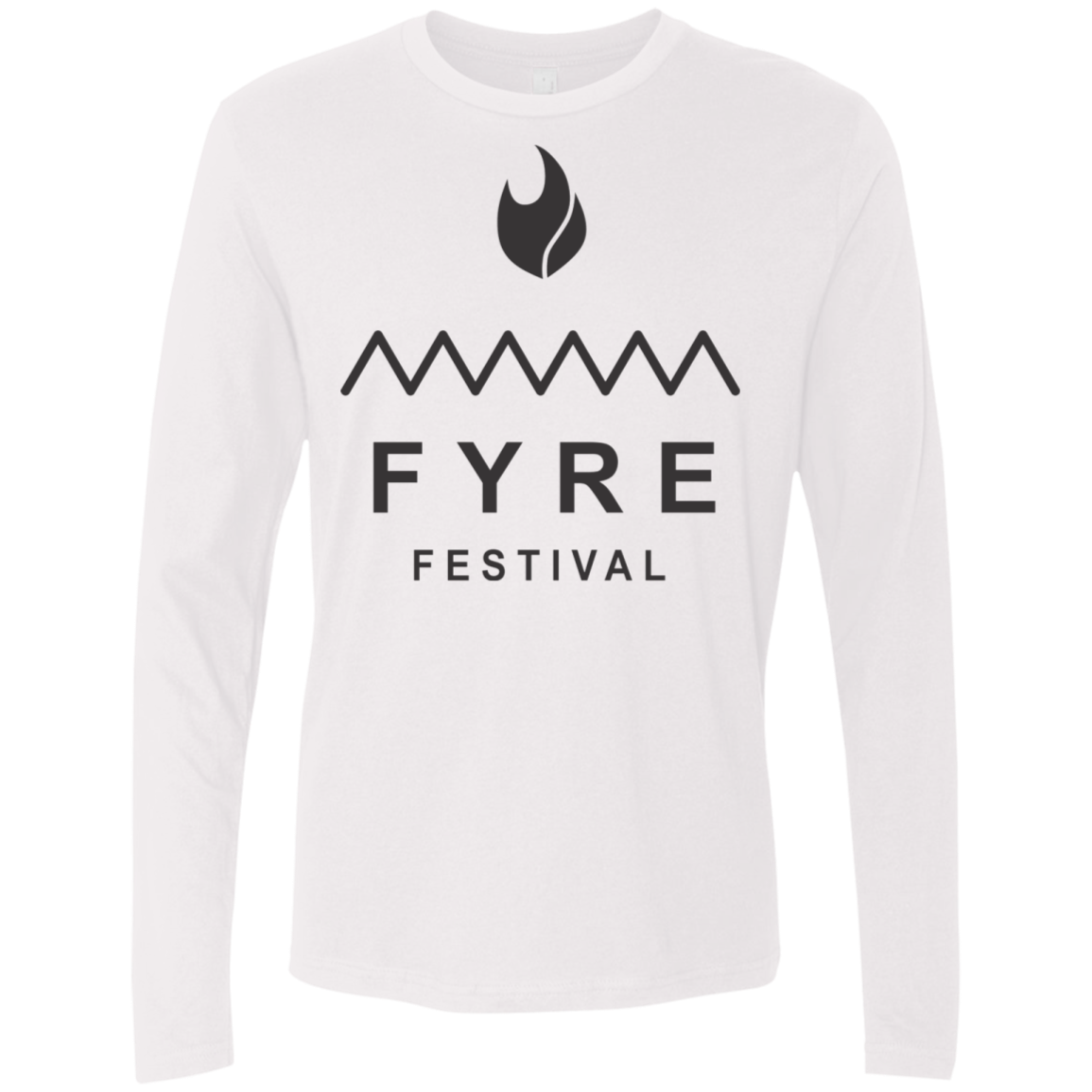 Fyre Festival was Lit Black Men's Long Sleeve Tee