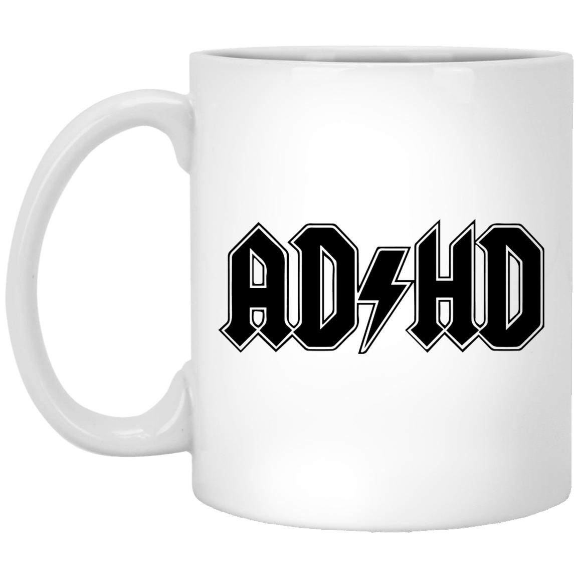 ADHD acdc 11 oz. White Coffee Mug