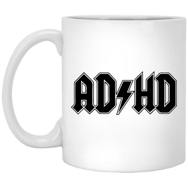 ADHD acdc 11 oz. White Coffee Mug - Trendy Tees