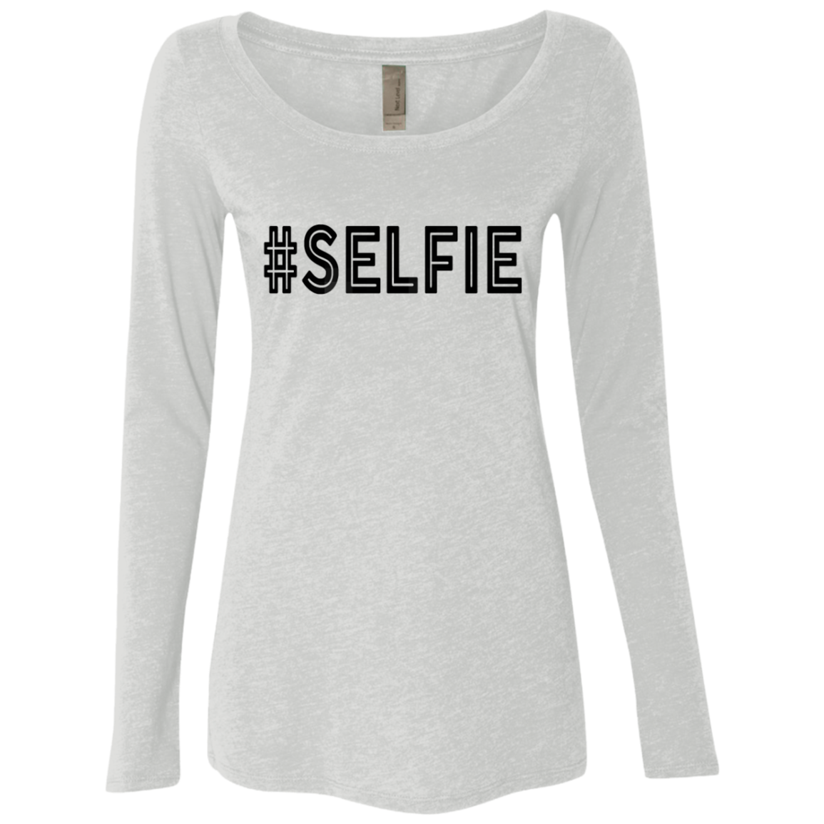 Hashtag Selfie Women's Long Sleeve Tee