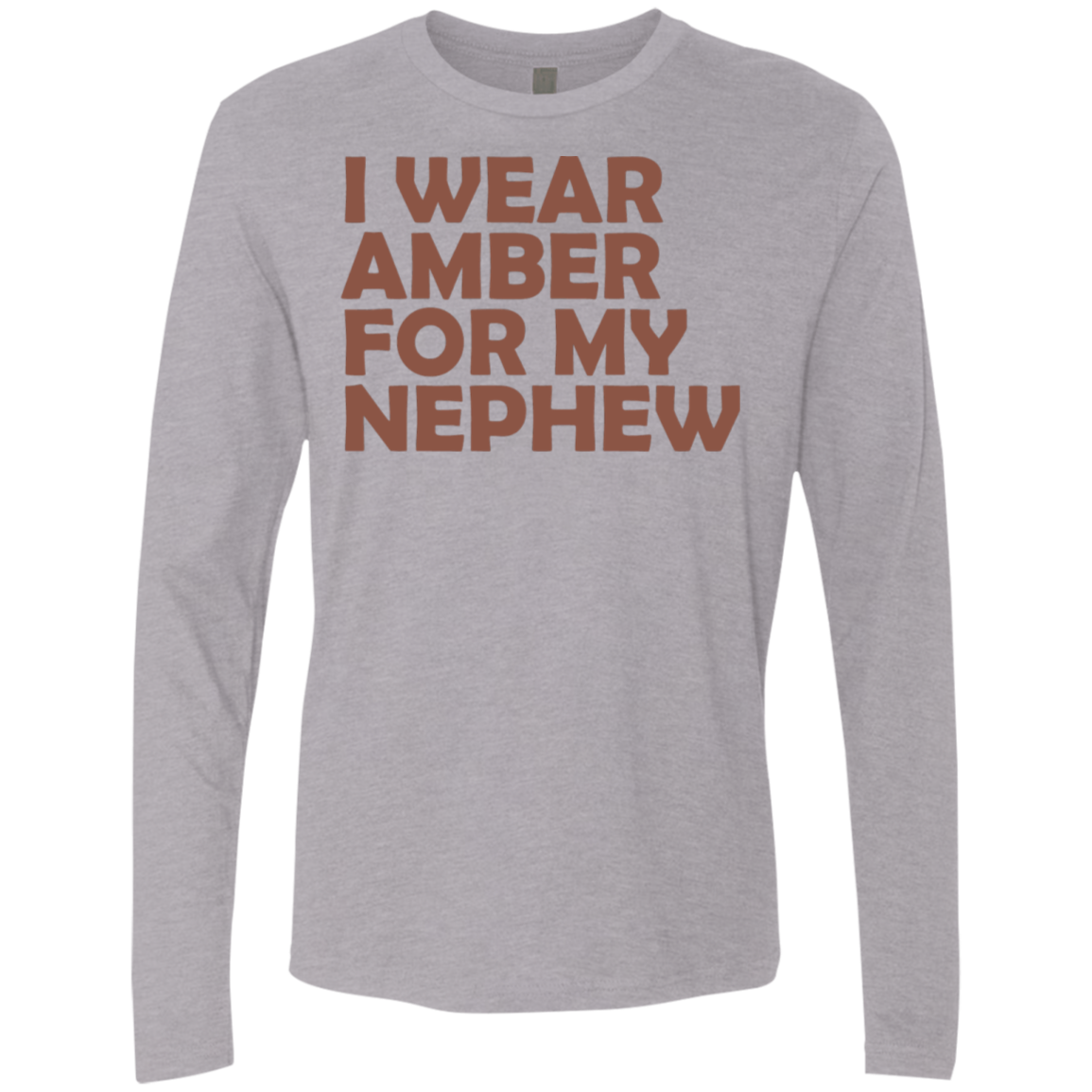 I Wear Amber For My Nephew Men's Long Sleeve Tee