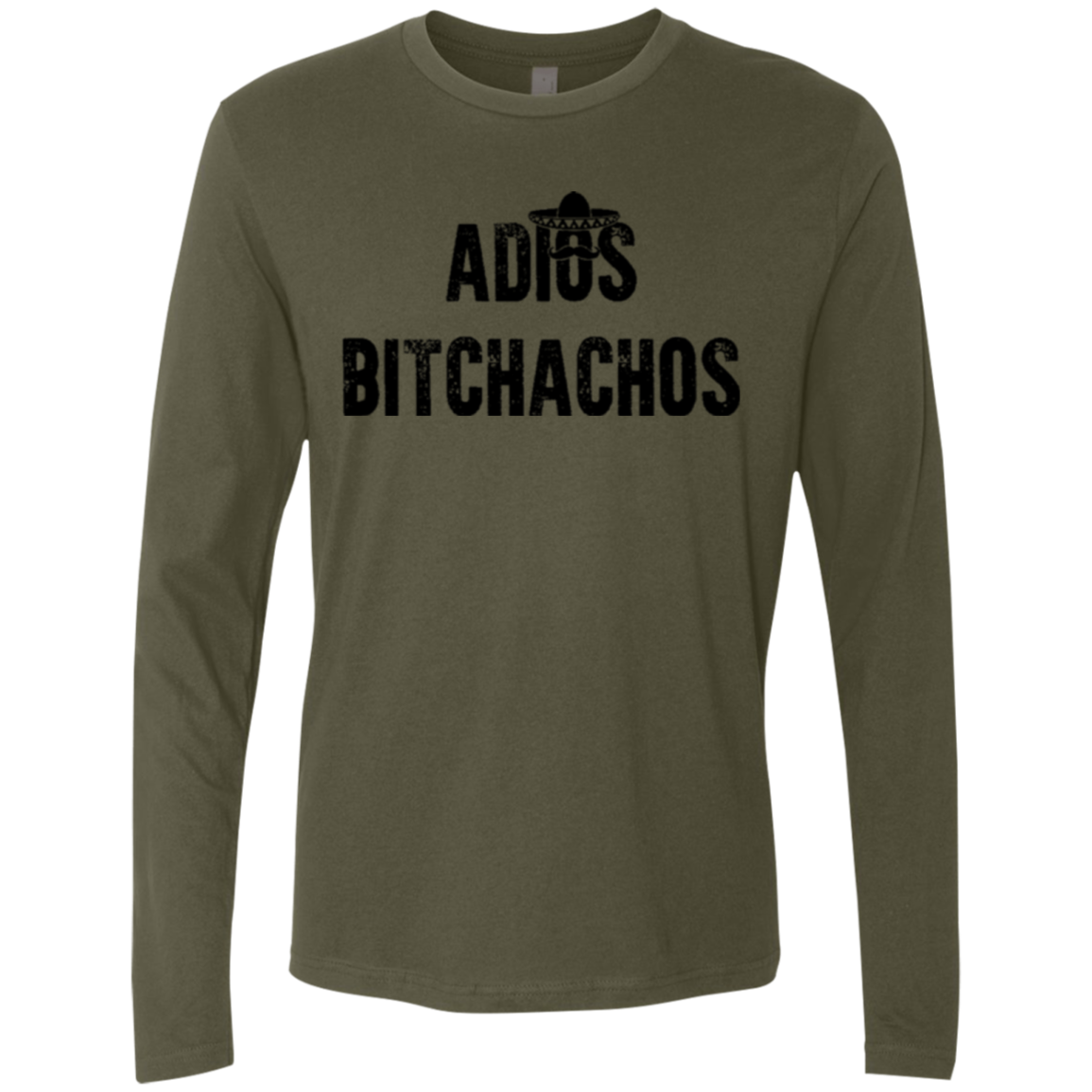 Adios Bitchachos Men's Long Sleeve Tee - Trendy Tees
