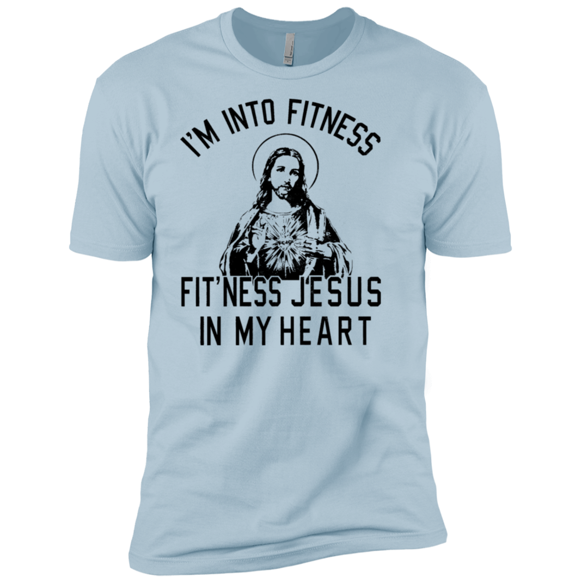 I'm Into Fitness Fit'Ness Jesus In My Heart Men's Classic Tee