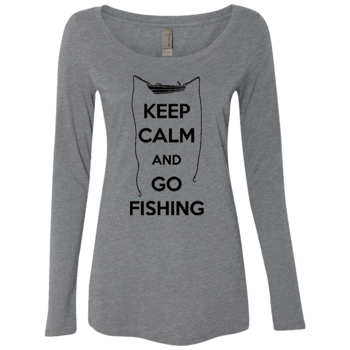 Keep Calm And Go Fishing Women's Long Sleeve Tee