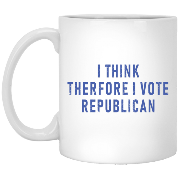 I Think Therefore I Vote Republican 11 oz. White Coffee Mug