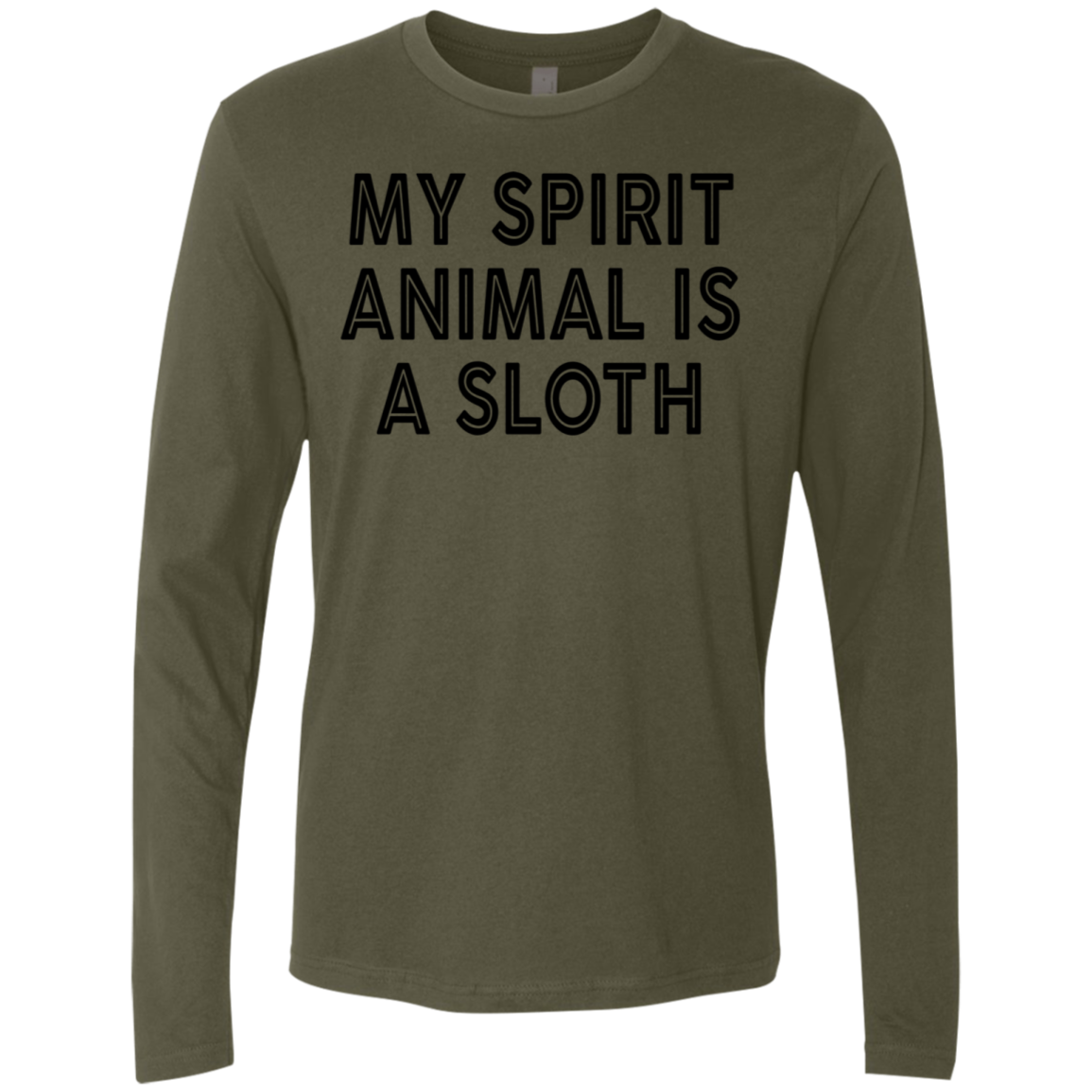Any Spirit Animal Is A Sloth Men's Long Sleeve Tee
