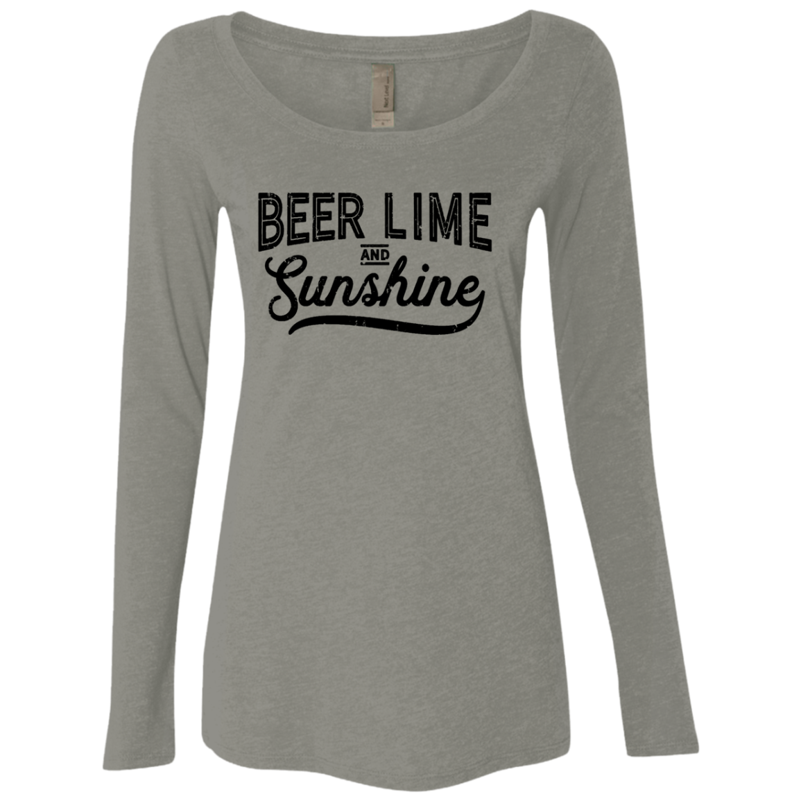 Beer Lime and Sunshine Women's Long Sleeve Tee - Trendy Tees