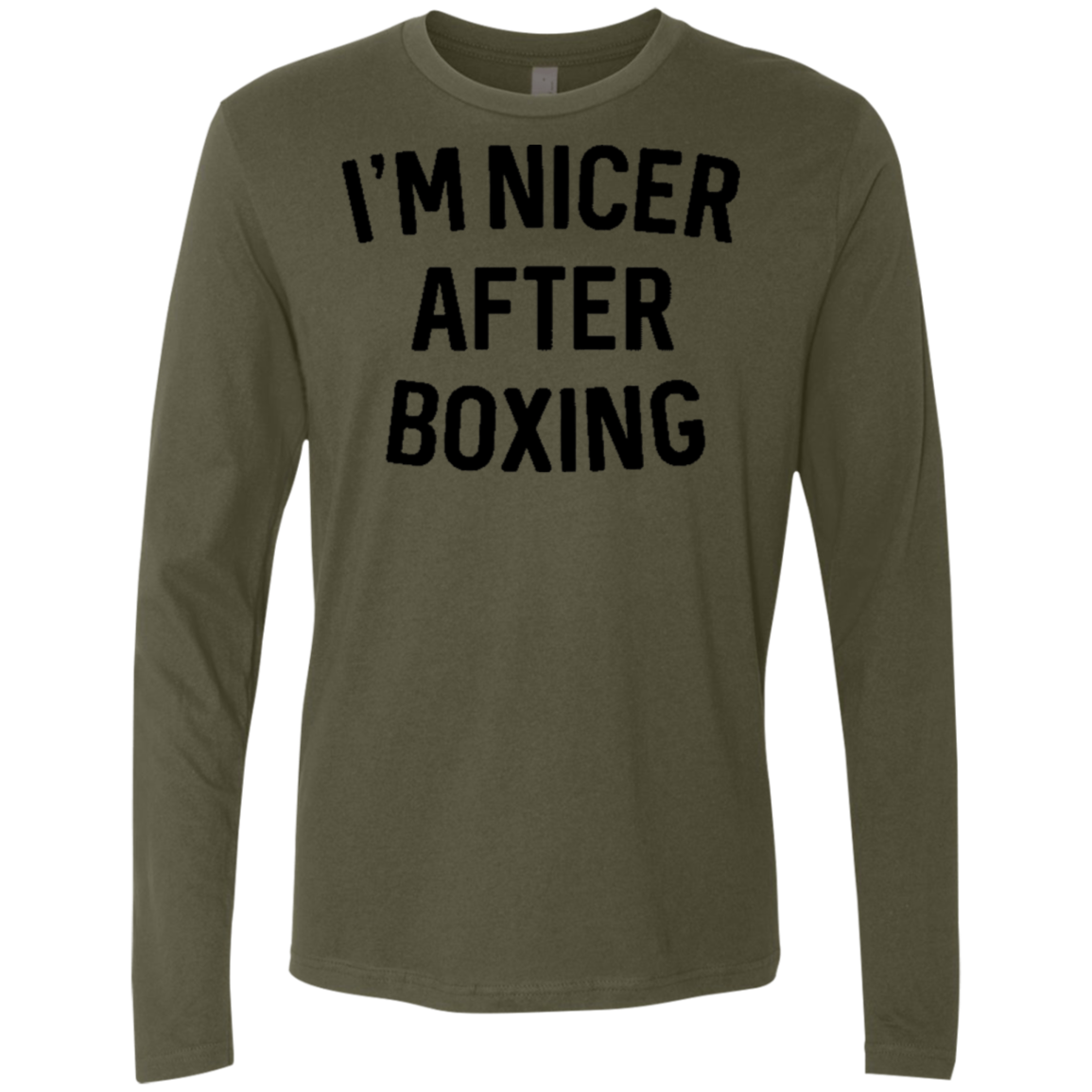 I'm Nicer After Box Men's Long Sleeve Tee