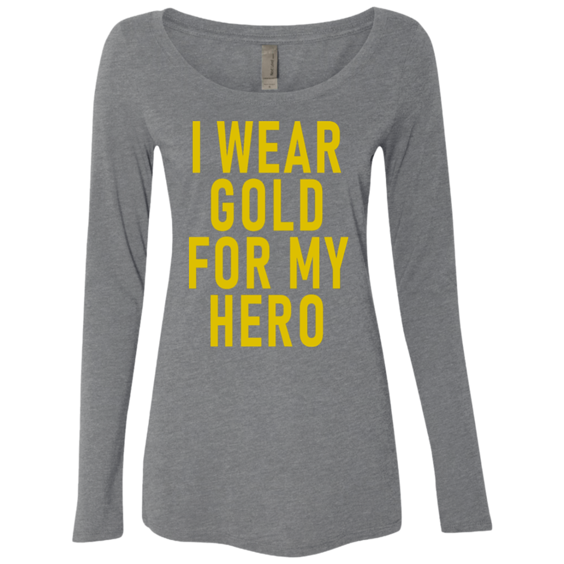 I Wear Gold For My Hero Women's Long Sleeve Tee