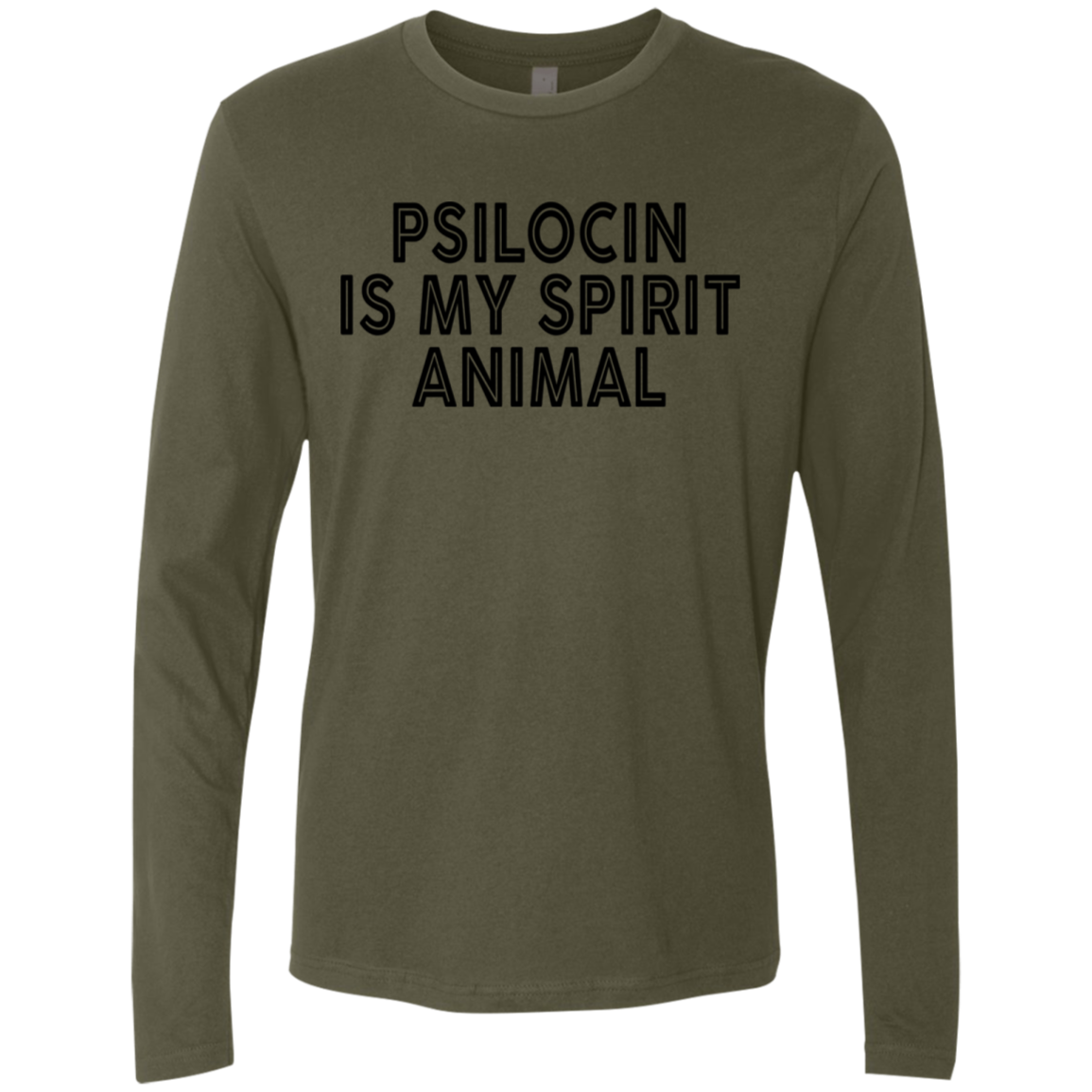 Psilocin Is My Spirit Animal Men's Long Sleeve Tee