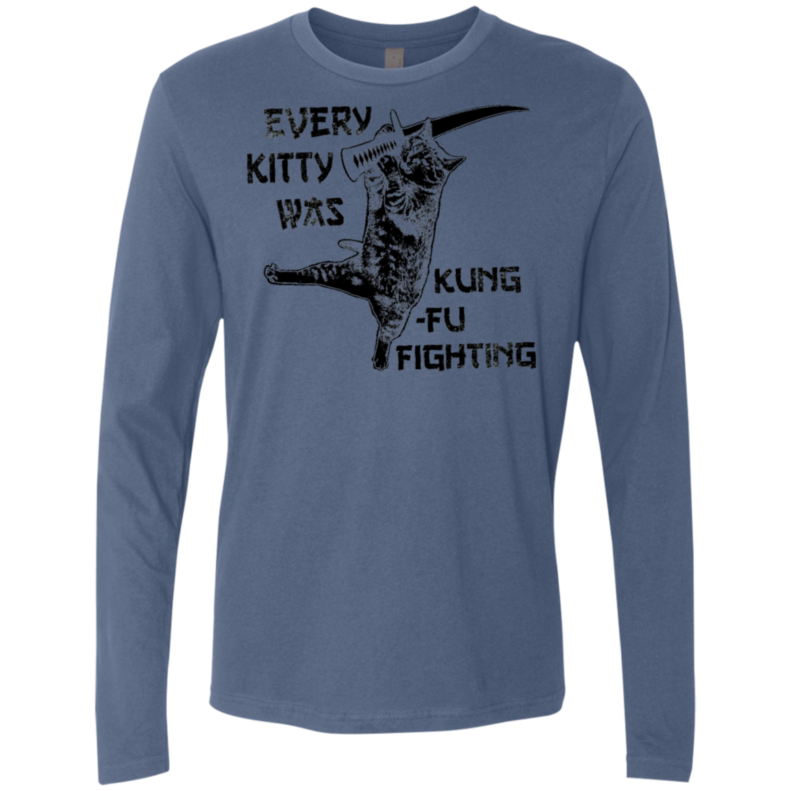 Every Kitty Was King Fu Fighting Men's Long Sleeve Tee