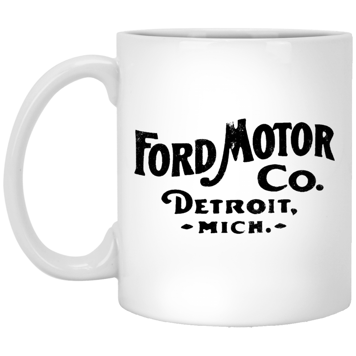 Ford Motor Detroit 11 oz. White Coffee Mug