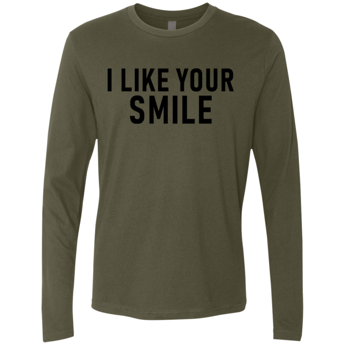 I Like Your Smile Men's Long Sleeve Tee