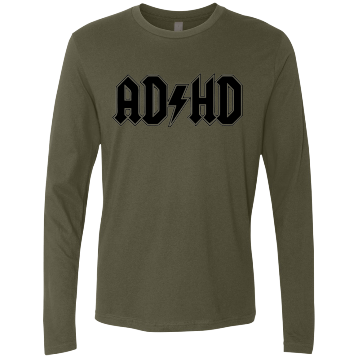 ADHD acdc Men's Long Sleeve Tee - Trendy Tees