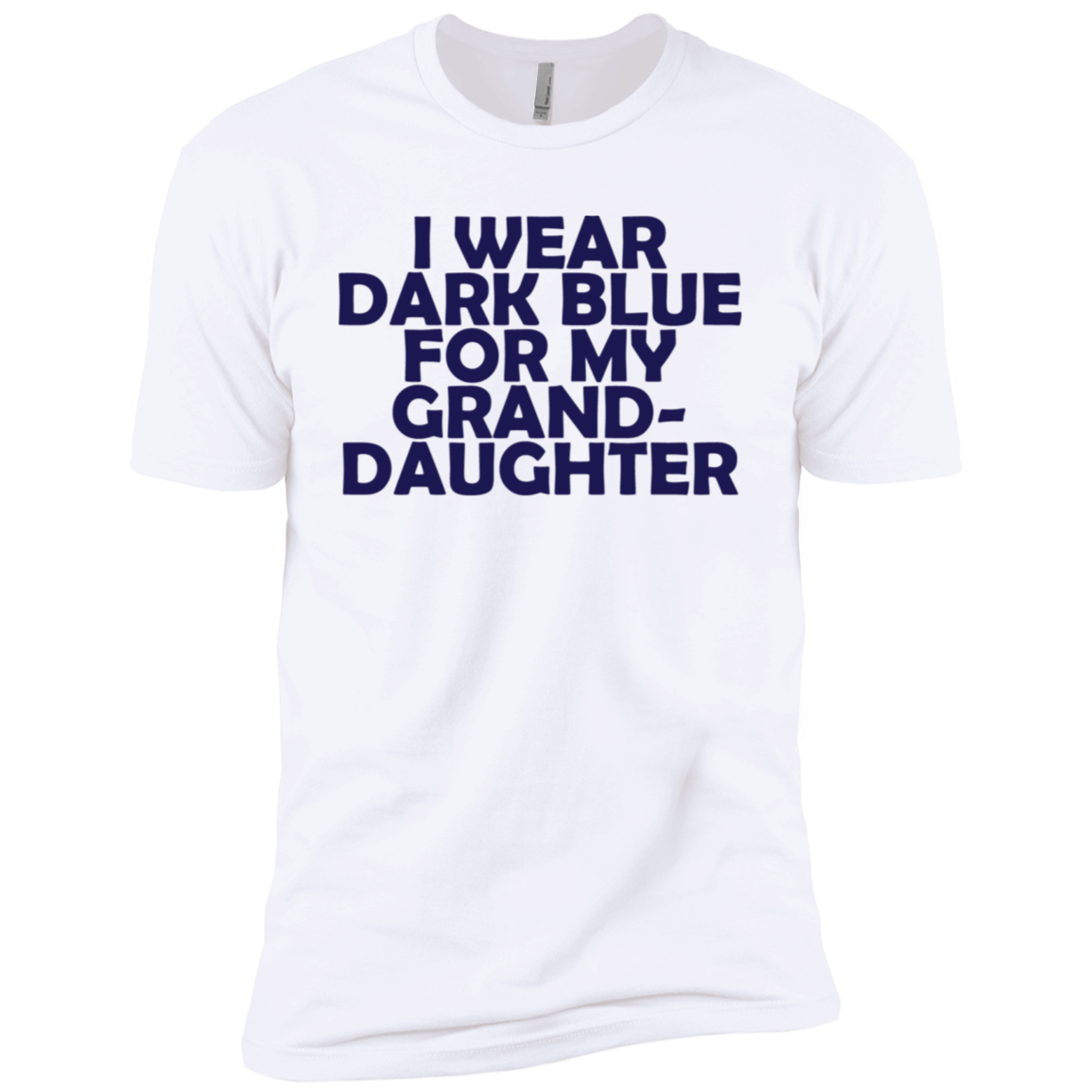 I Wear Dark Blue For My Grand Daughter Men's Classic Tee