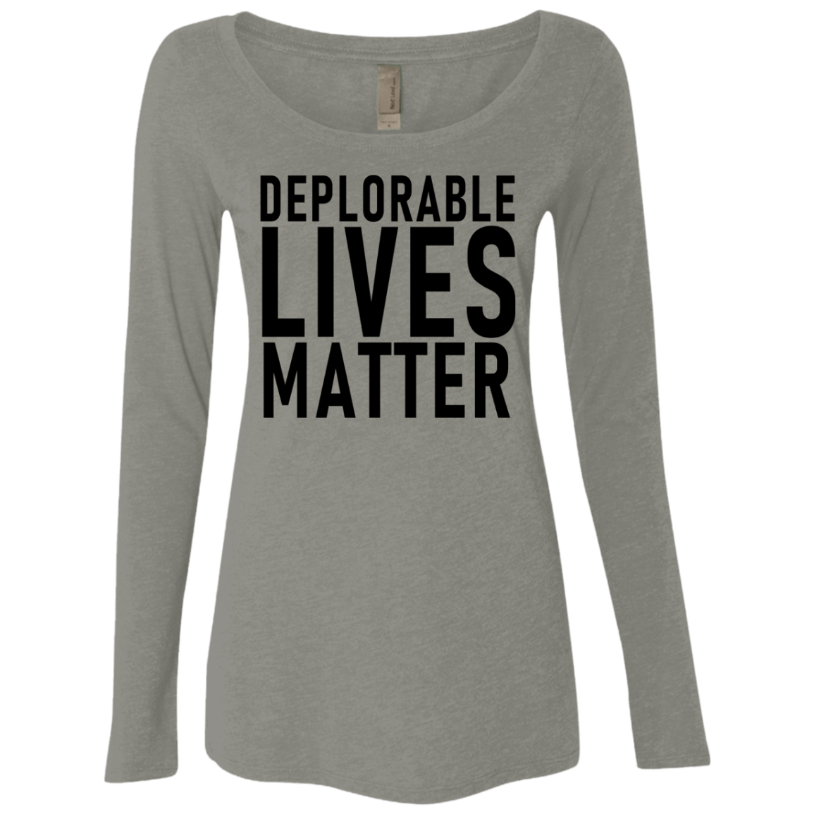 Deplorable Lives Matter Women's Long Sleeve Tee