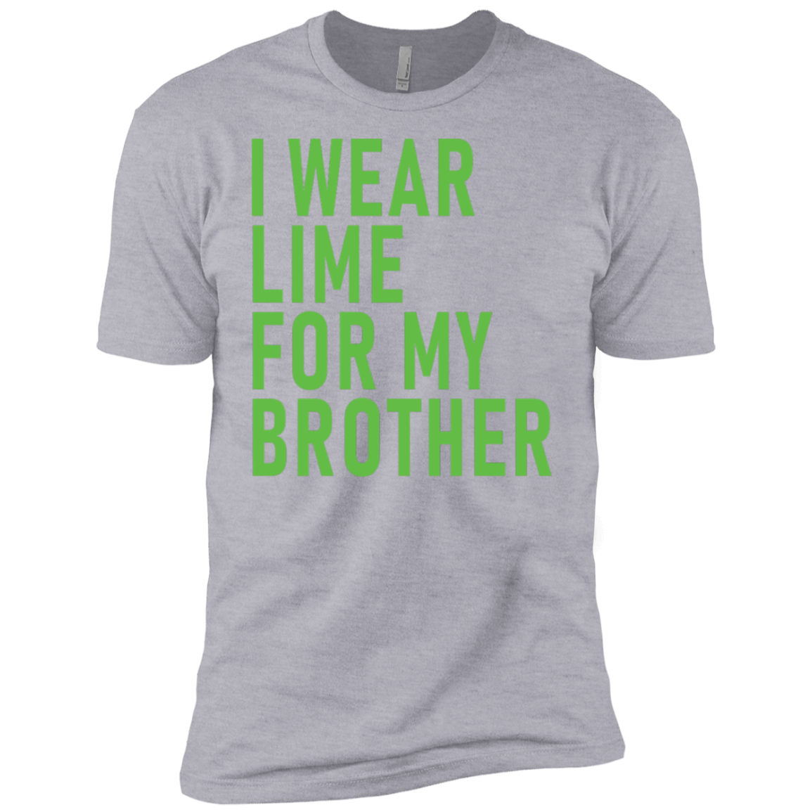 I Wear Lime For My Brother Men's Classic Tee