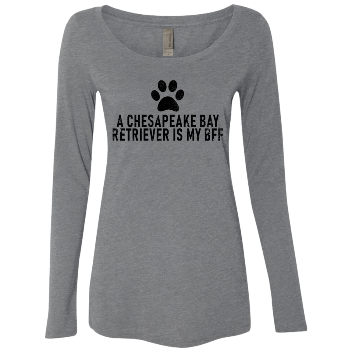 A Chesapeake Bay Is My Bff Women's Long Sleeve Tee