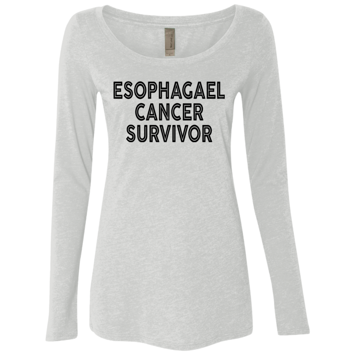 Esophagael Cancer Survivor Women's Long Sleeve Tee