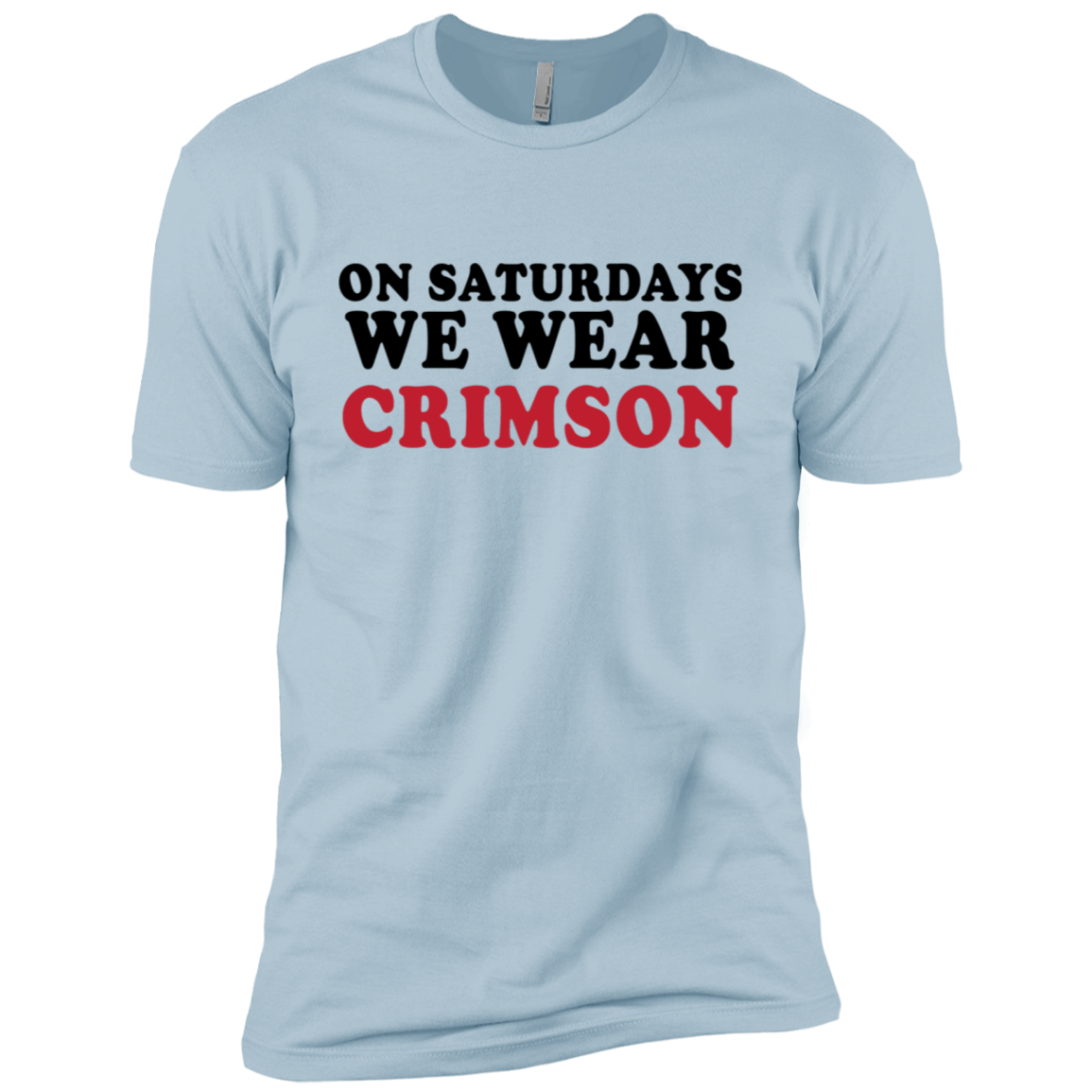 On Saturdays We Cheer Crimson Men's Classic Tee
