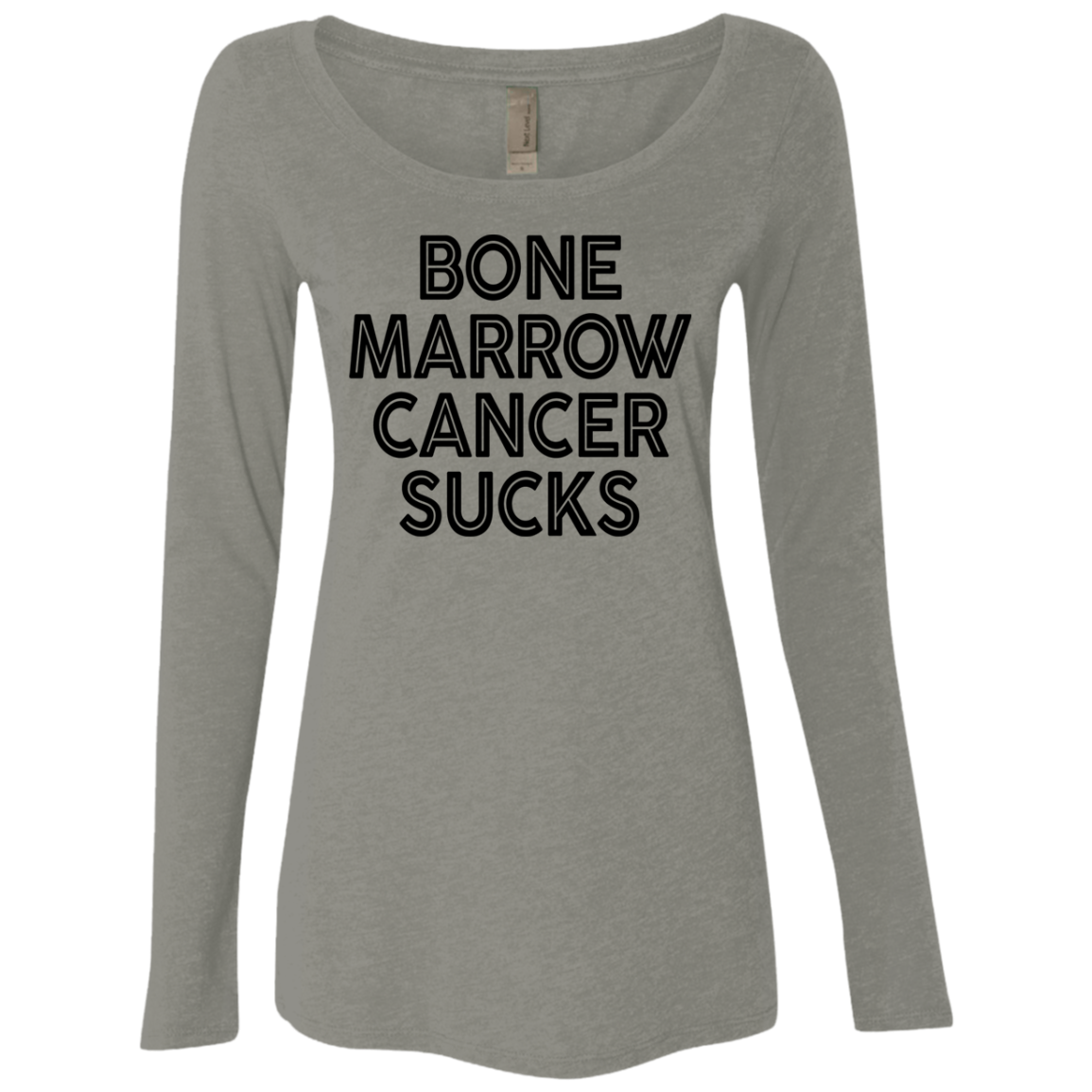 Bone Marrow Cancer Sucks Women's Long Sleeve Tee