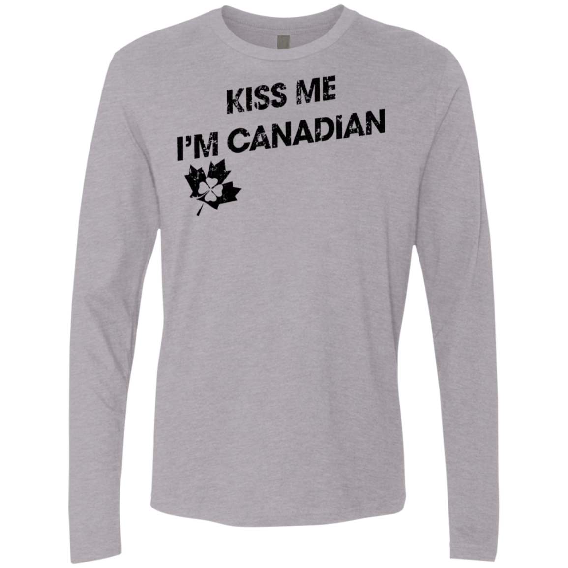 Kiss Me I'm Canadian Men's Long Sleeve Tee