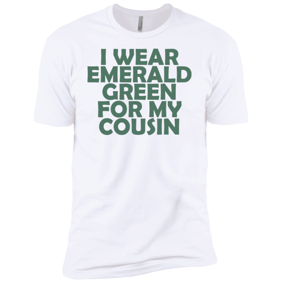 I Wear Emerald Green For My Cousin Men's Classic Tee