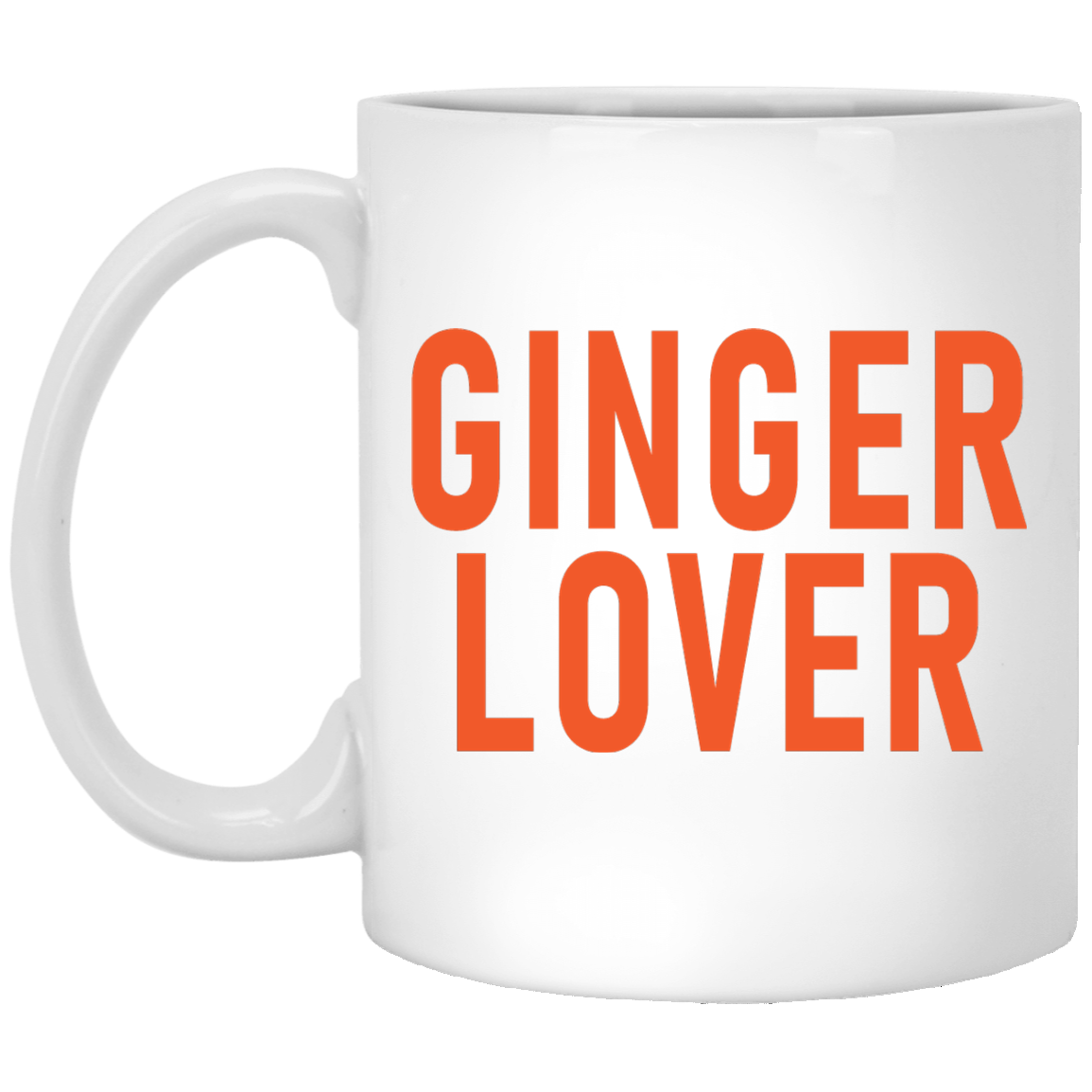 Ginger Love 11 oz. White Coffee Mug