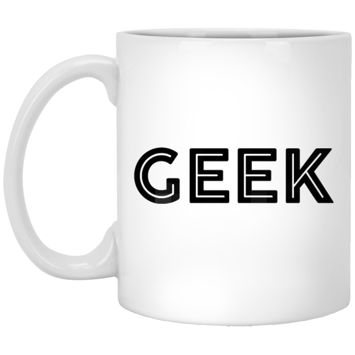 Geek 11 oz. White Coffee Mug