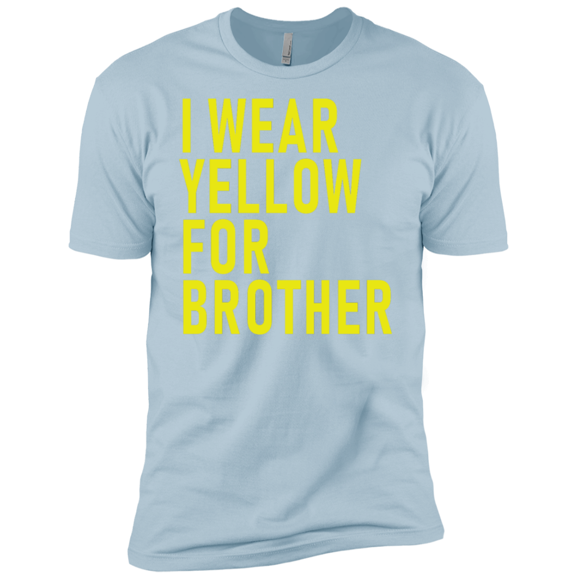 I Wear Yellow For Brother Men's Classic Tee
