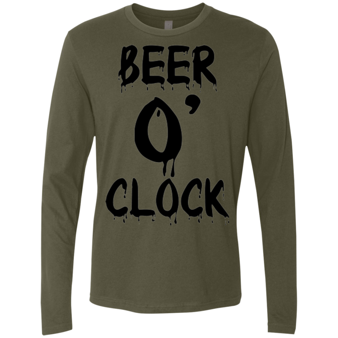 It's Beer o Clock Men's Long Sleeve Tee - Trendy Tees