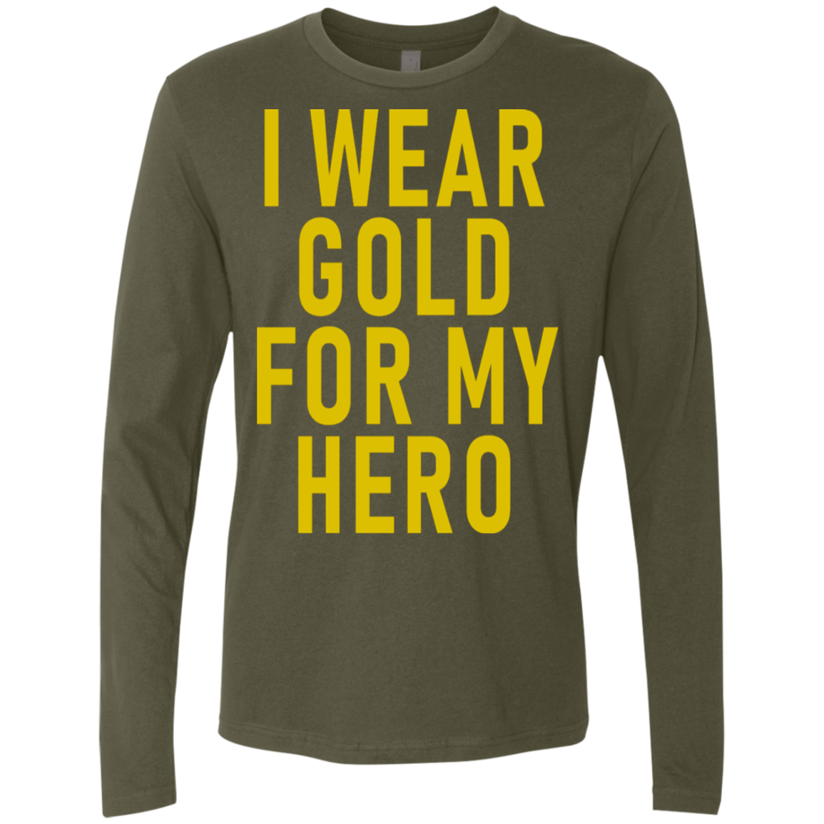 I Wear Gold For My Hero Men's Long Sleeve Tee