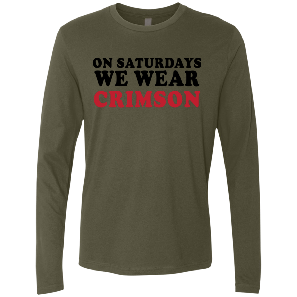 On Saturdays We Cheer Crimson Men's Long Sleeve Tee