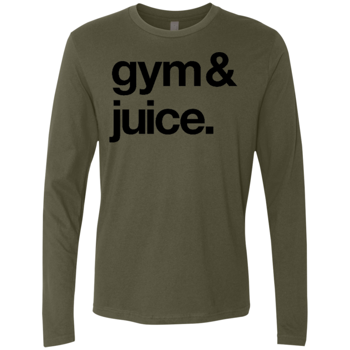Sipping on Gym and Juice Men's Long Sleeve Tee